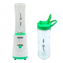 Блендер для смузи 260 Вт Rotex лучший фитнес набор + 2 спортивные бутылочки фруктовый домашний белый RTB3510WWSport