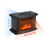 Обогреватель тепловентилятор мини дуйка керамический 1000 Вт Камин FLAME HEATER FHС1000 с пультом Черный