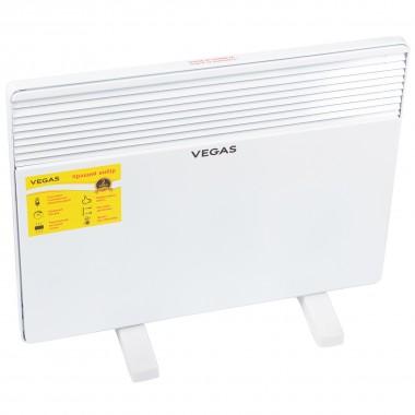Обогреватель конвектор электрический Vegas 1500 Вт экономный для дома белый VKH1500W