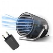 Вентилятор настольный CoolEngine портативный маленький бесшумный мини юсб тихий USB 220V Черный KWMF100