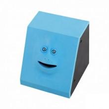 Копилка Face Bank жующая монеты с лицом Blue
