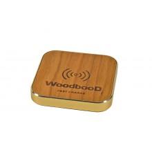 Беспроводная зарядка WoodbooD Wireless Charge Standart Gold