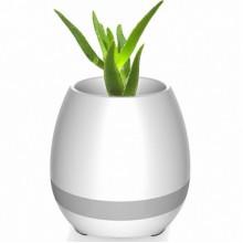 Умный цветочный горшок Smart Music Flowerpot с музыкой Белый