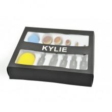 Набор кистей-щеток для макияжа Kylie 5 шт и 2 спонжа