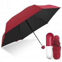 Карманный зонт FAIRY SEASON в капсуле Black/Red