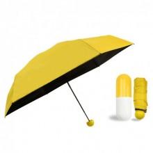 Карманный зонт FAIRY SEASON в капсуле Black/Yellow