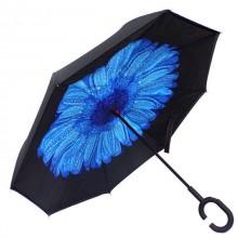 Зонт обратного сложения Vip-brella Бегония Синяя
