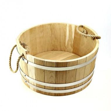Шайка для бани и сауны дубовая BonRomProm 35 л.