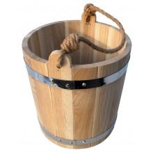 Ведро для бани и сауны дубовое BonRomProm 12 л.