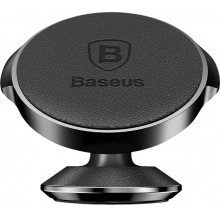Автодержатель Baseus Small Ears Series Vertical Magnetic Bracket (Genuine Leather Type) Black