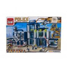 Конструктор Полицейский спецназ 5. Полицейский участок. 951 деталь. BRICK 501918