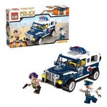 Конструктор Полицейский спецназ 4. Полицейский  патруль. 149 деталей. BRICK 501906