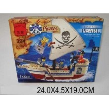 Конструктор Пираты 1. 188 деталей. BRICK 500304