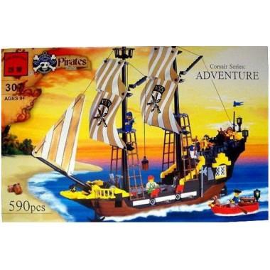 Конструктор Пираты 2. 590 деталей. BRICK 500307