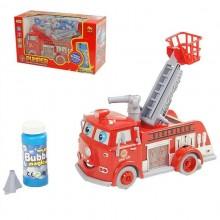 Пожарная машинка с мыльными пузырями с звуками и музыкой. Красная. HUACAI B838B-HC00120