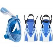 Набор для плавания детский 2в1 Маска XS Kids Blue + Ласты S/M Free Breath