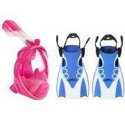 Набор для плавания детский 2в1 Маска XS Kids Rose + Ласты S/M