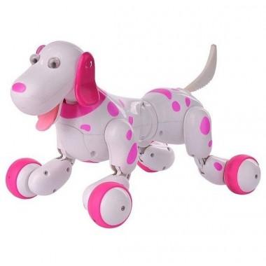 Робот щенок Smart Dog. Умная интерактивная собака игрушка Smart Dog на радиоуправлении. Бело-Розовая HC0002
