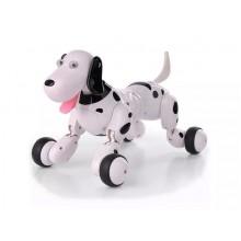 Робот щенок Smart Dog. Умная интерактивная собака игрушка Smart Dog на радиоуправлении. Бело-Черный HC0001