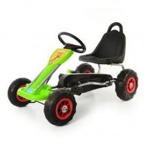 Веломобиль карт c педалями. Зеленый. BigWheel B00170.