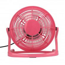 Мини вентилятор настольный бесшумный Airflow USB портативный маленький юсб Розовый CD816