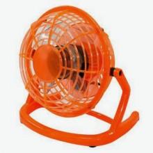 Мини вентилятор настольный бесшумный Airflow USB портативный маленький юсб Оранжевый CD816