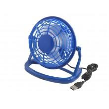 Мини вентилятор настольный бесшумный Airflow USB портативный маленький юсб Синий CD816