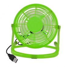 Мини вентилятор настольный бесшумный Airflow USB портативный маленький юсб Зеленый CD816
